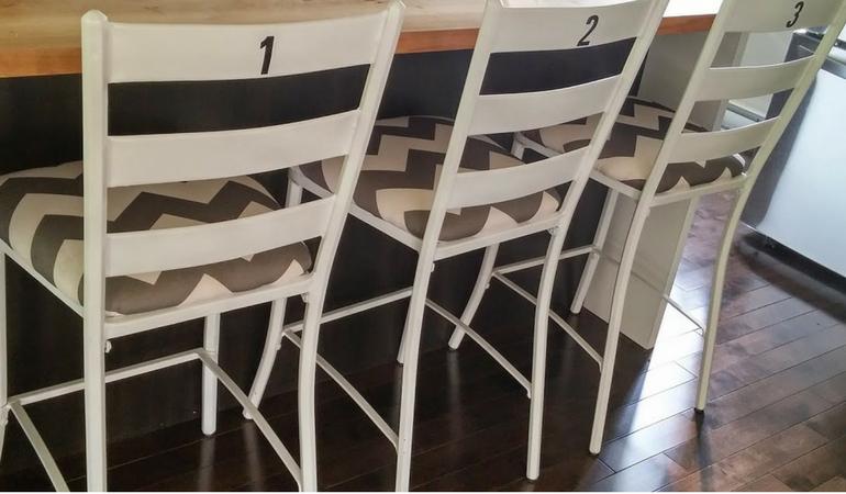 Petit projet maison : mes chaises de comptoir