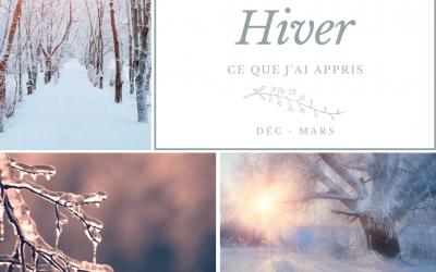 Réflexion saisonnière : hiver 2019-2020